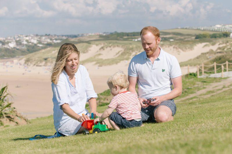 Family Portrait - Crantock Beach, Cornwall - 09/14