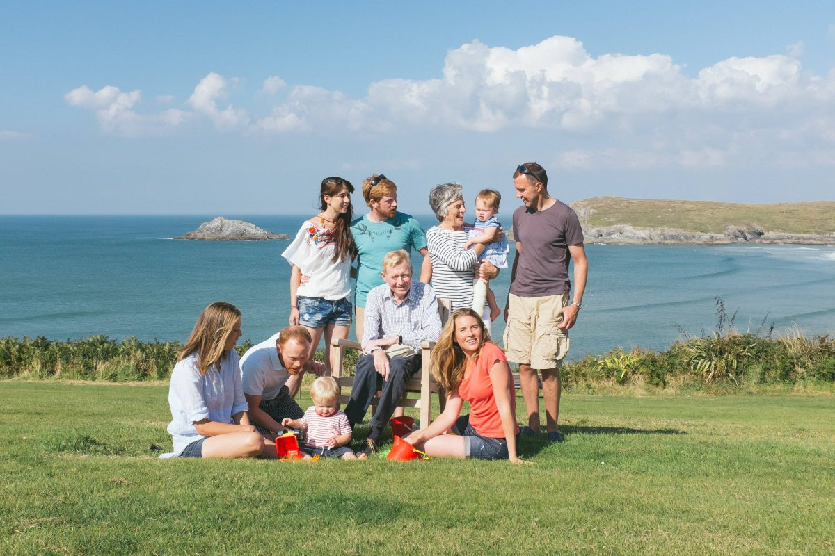 Family Portrait - Crantock Beach, Cornwall - 09/14
