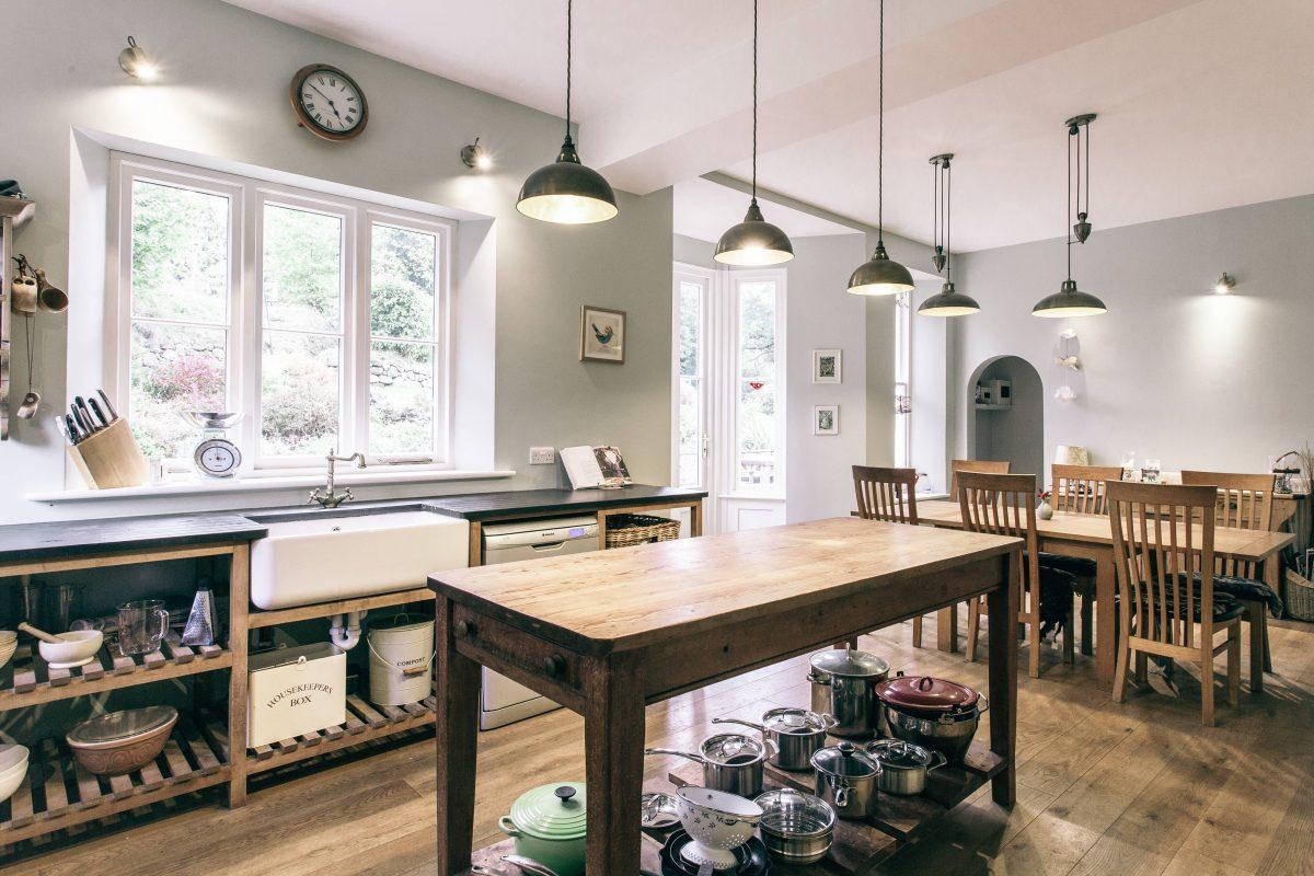 Photograph \'Stylish kitchen with belfast sink, Dartmoor, Devon\'
